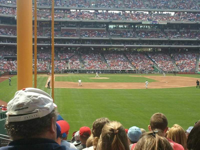 Seating view for Citizens Bank Park Section 106 Row 14 Seat 22