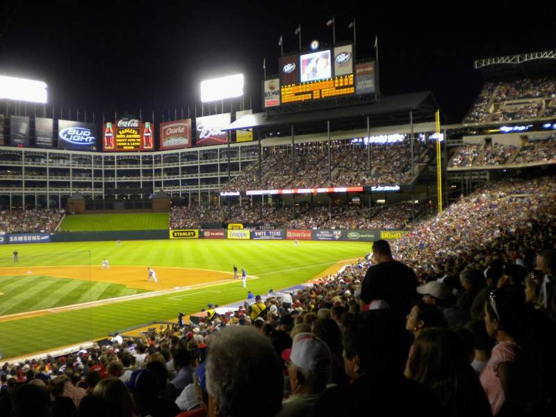 Seating view for Globe Life Park in Arlington Section 28 Row 29 Seat 8