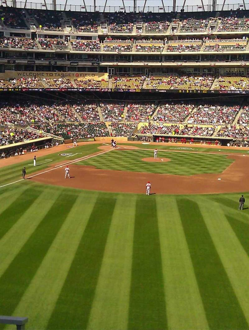 Seating view for Target Field Section 240 Row 4 Seat 28