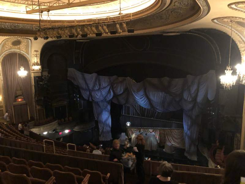 Seating view for Majestic Theatre Section Rear Mezzanine R Row F Seat 6