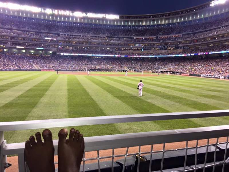 Seating view for Target Field Section 130 Row 1 Seat 5