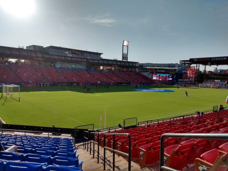 Seating view for Toyota Stadium Section 121 Row 12 Seat 14