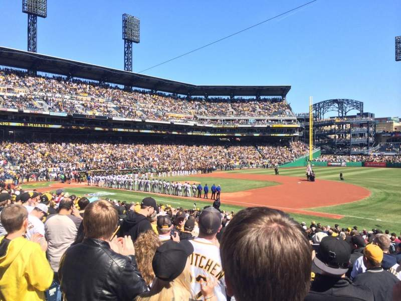 Seating view for PNC Park Section 107 Row N Seat 14