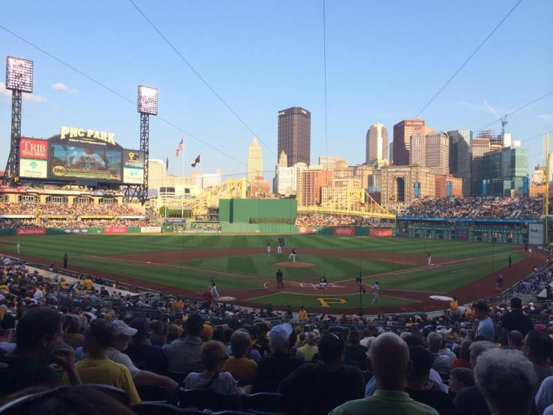 Seating view for PNC Park Section 117 Row V Seat 8