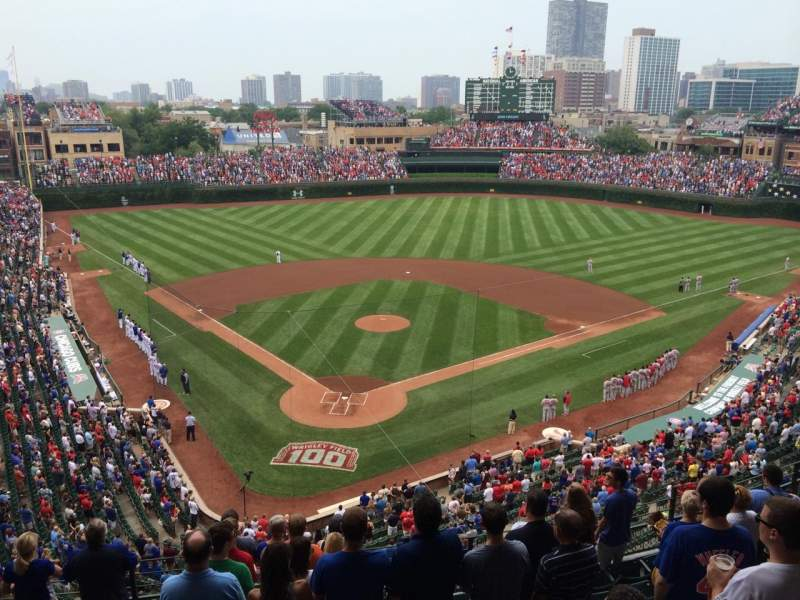 Seating view for Wrigley Field Section 319R Row 10 Seat 1