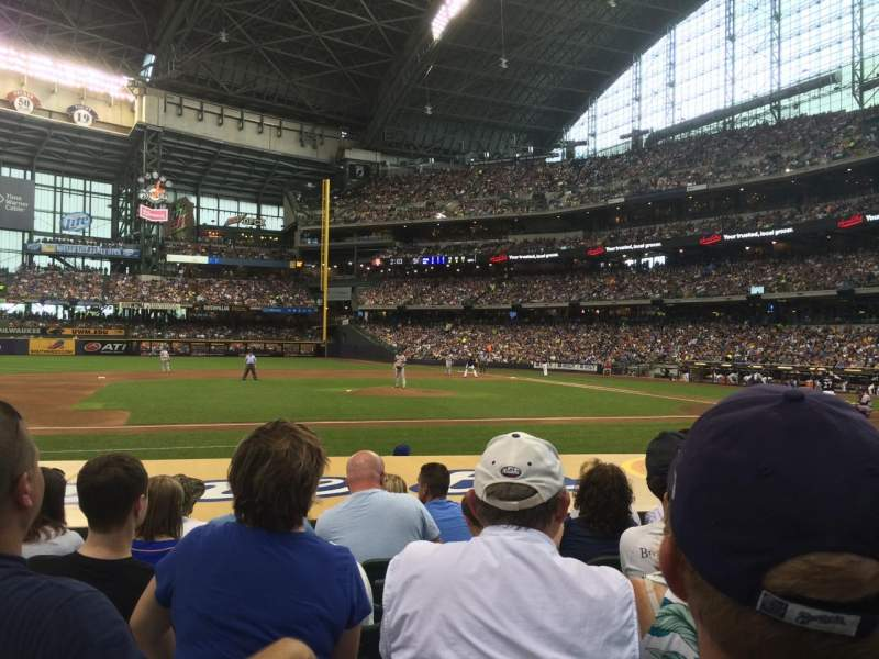 Seating view for Miller Park Section 122 Row 9 Seat 13