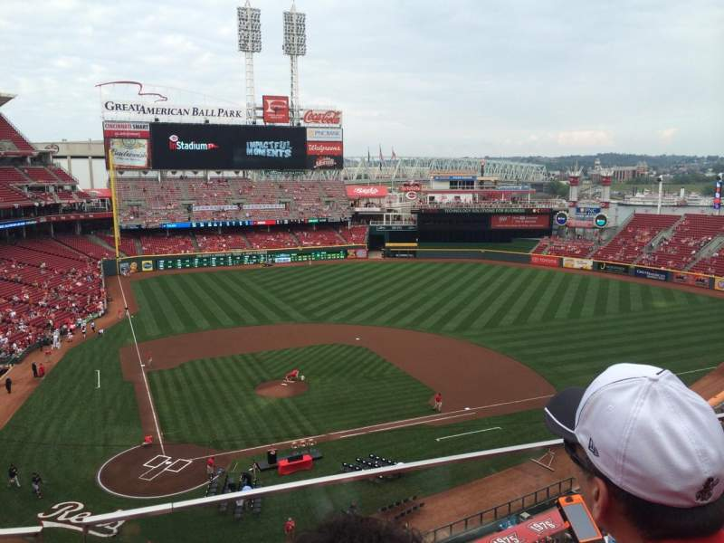 Seating view for Great American Ball Park Section 427 Row B Seat 8