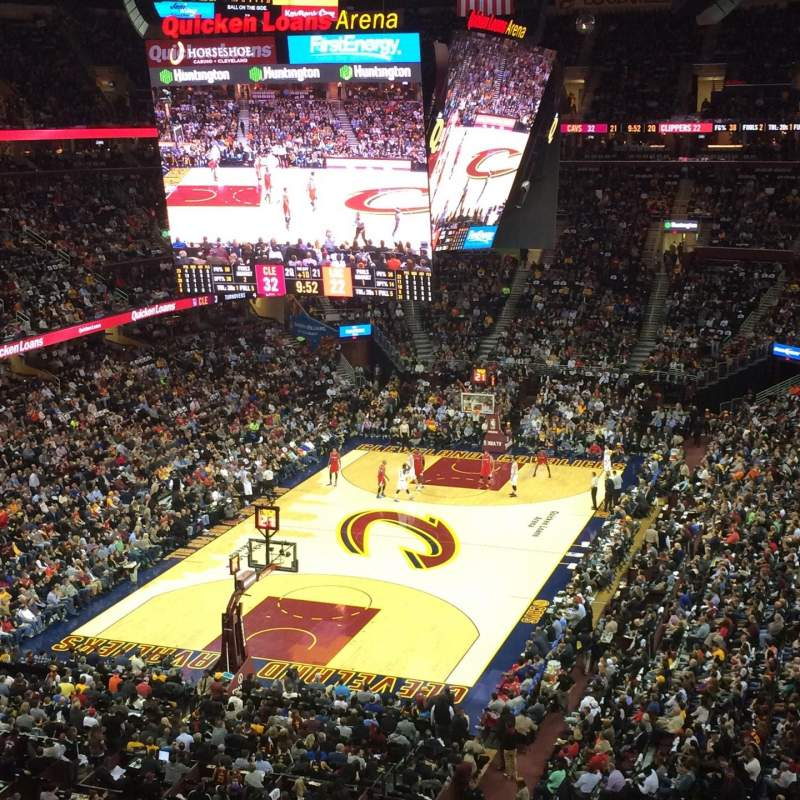 Seating view for Quicken Loans Arena Section 219 Row 2 Seat 11
