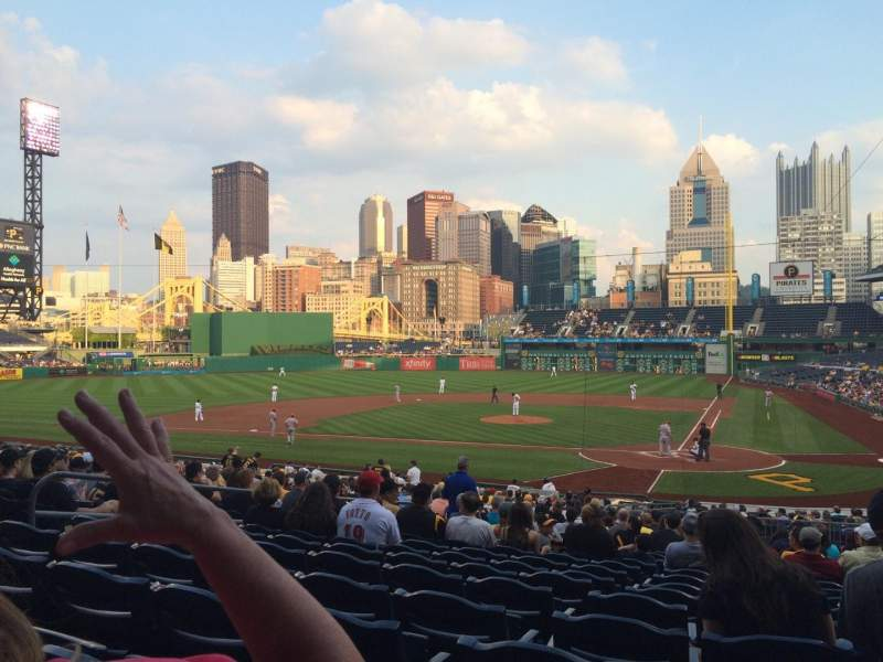 Seating view for PNC Park Section 119 Row T Seat 20
