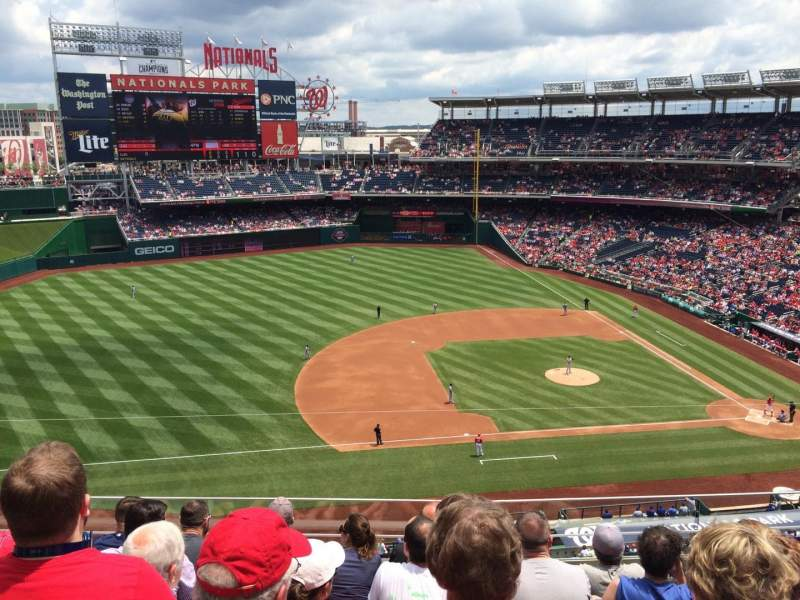 Seating view for Nationals Park Section 307 Row F Seat 15