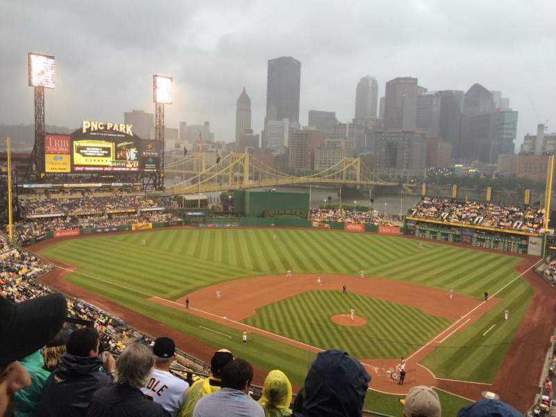 Seating view for PNC Park Section 318 Row H Seat 8