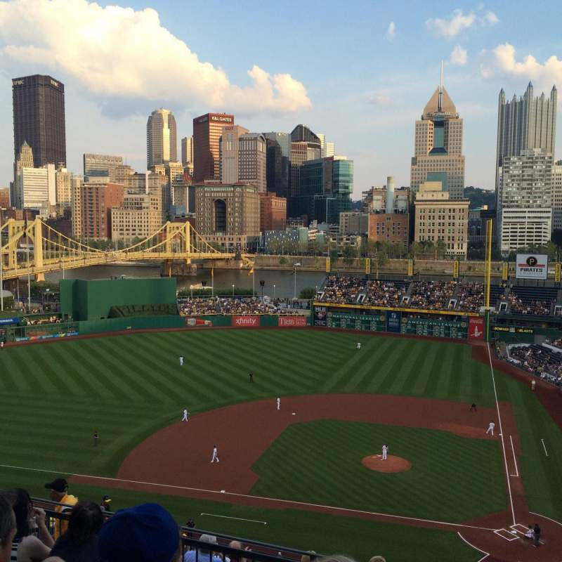 Seating view for PNC Park Section 321 Row M Seat 4