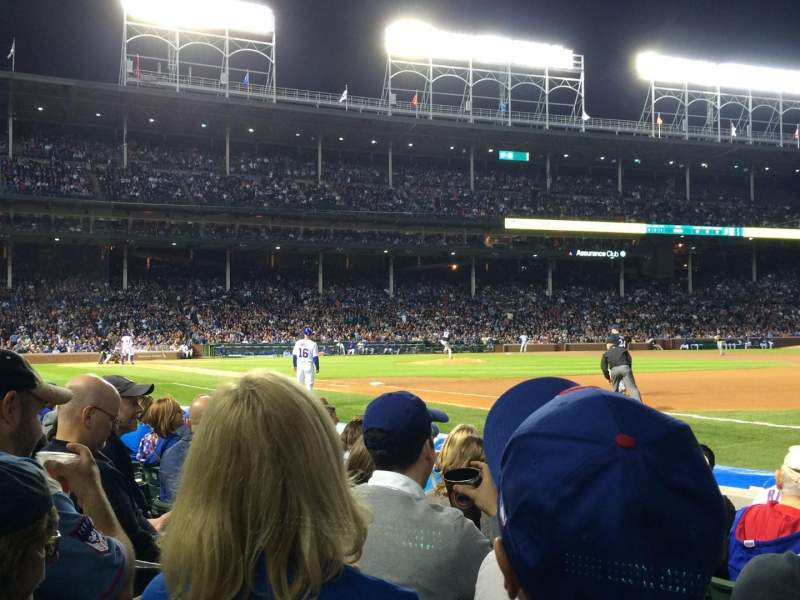 Seating view for Wrigley Field Section 35 Row 4 Seat 105