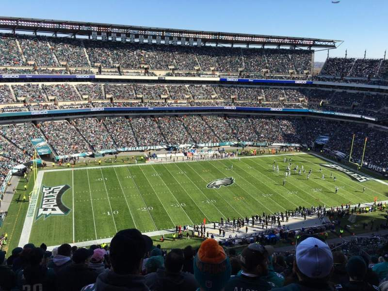 Seating view for Lincoln Financial Field Section 242 Row 17 Seat 16