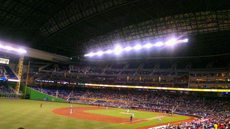 Seating view for Marlins Park Section 25 Row 13 Seat 18