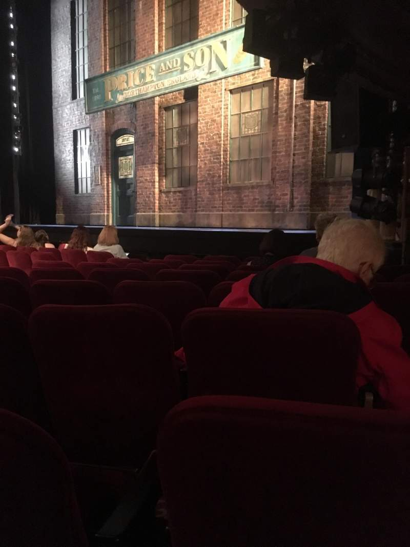 Al Hirschfeld Theatre, section: Right Orchestra, row: H, seat: 20