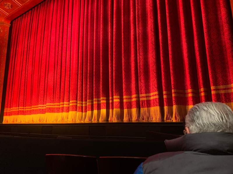 Seating view for Marquis Theatre Section Orchestra R Row C Seat 6