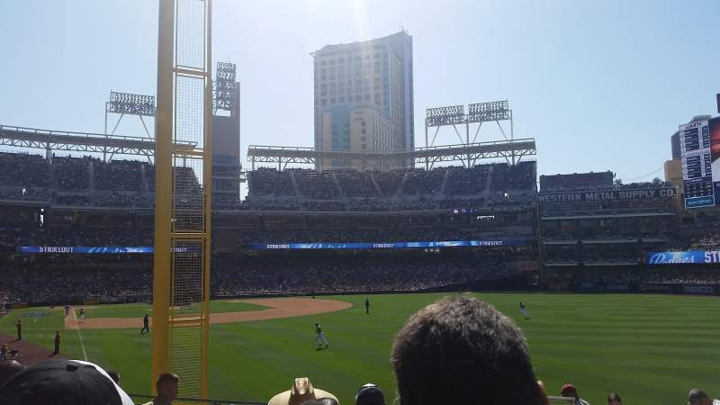Seating view for PETCO Park Section 125 Row 33 Seat 18