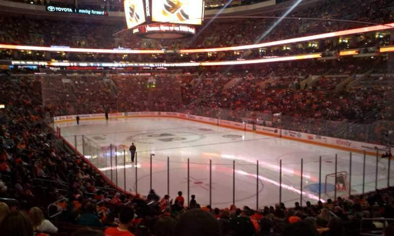 Seating view for Wells Fargo Center Section 105 Row 20 Seat 10