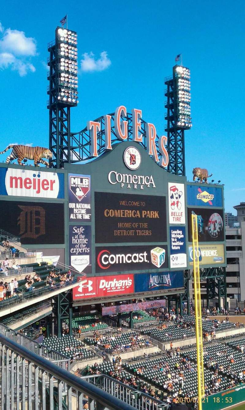 Seating view for Comerica Park Section 339 Row A Seat 12