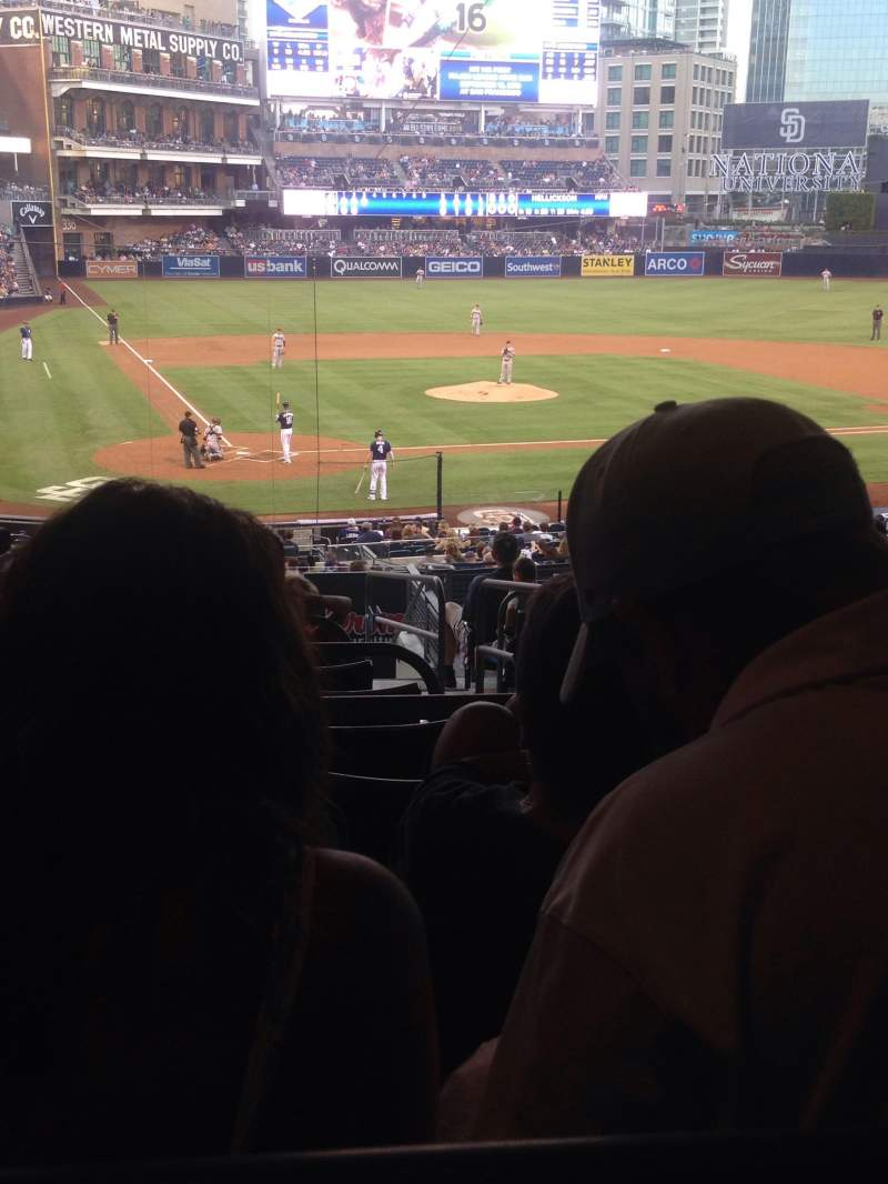 Seating view for Petco Park Section J Row 15 Seat 10 and 11