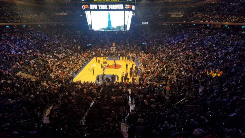Seating view for Madison Square Garden Section 204LWC Row 1 Seat 32