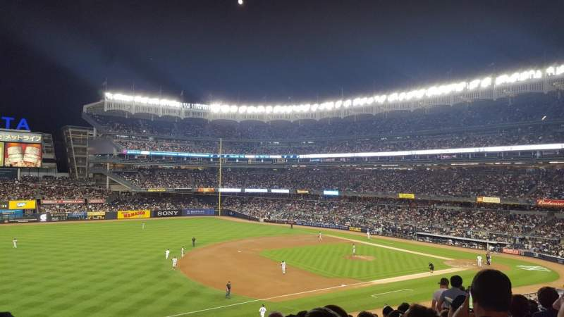 Seating view for Yankee Stadium Section 227B Row 11 Seat 14
