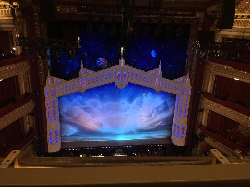 Seating view for PrivateBank Theatre Section BALCLC Row B Seat 409
