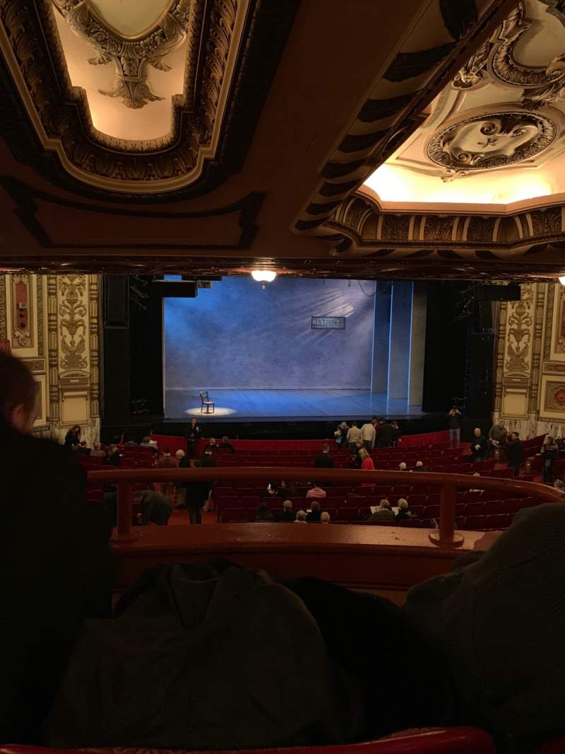Seating view for Cadillac Palace Theater Section Dress Circle LC Row B Seat 206