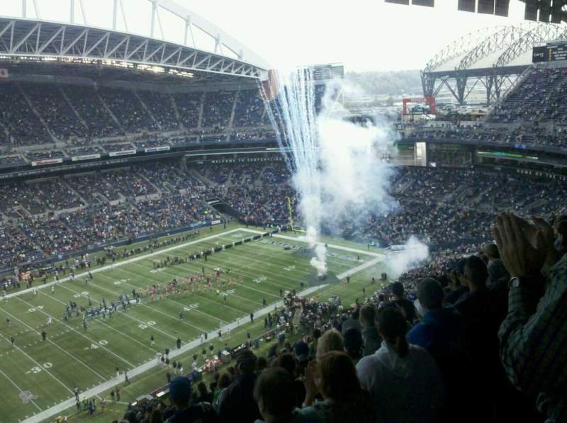 Seating view for CenturyLink Field  Section 339 Row AA Seat 1