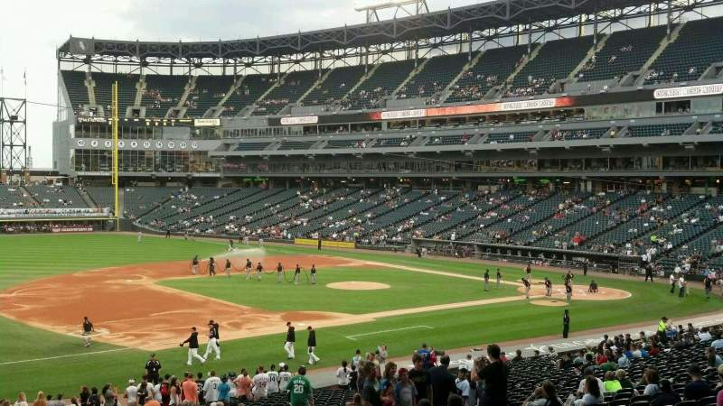 Seating view for Guaranteed Rate Field Section 145 Row WCH Seat 1