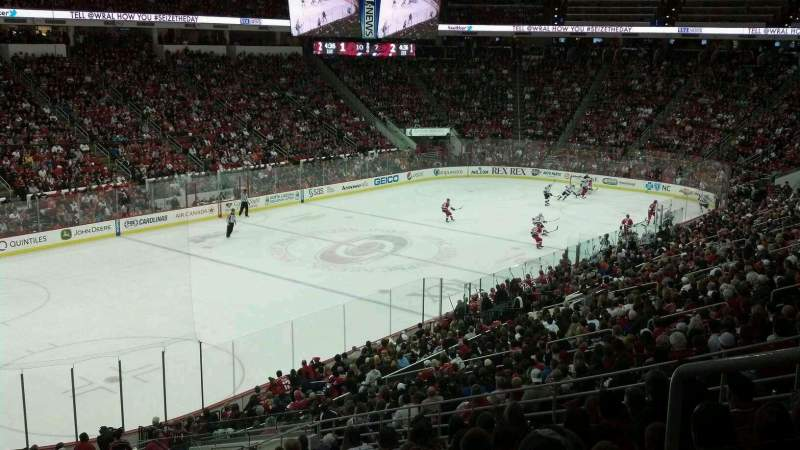 Seating view for PNC Arena Section 107