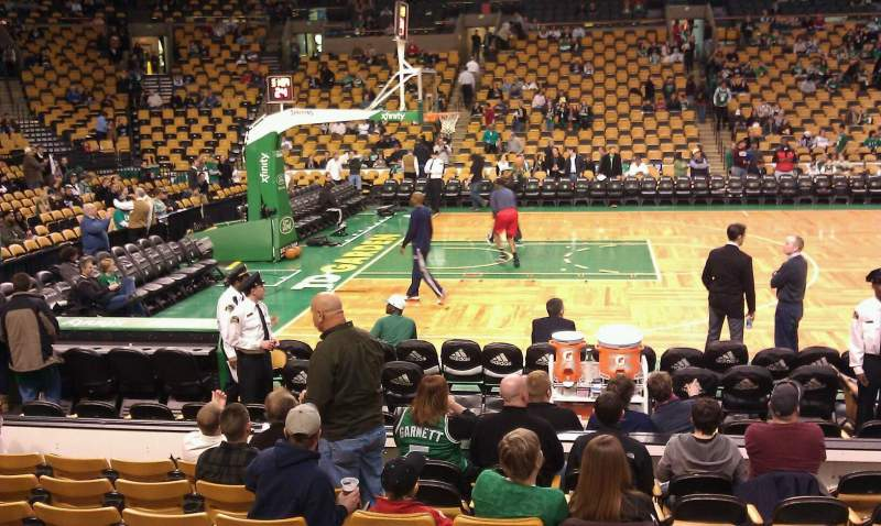 Seating view for TD Garden Section Loge 2 Row 9 Seat 9
