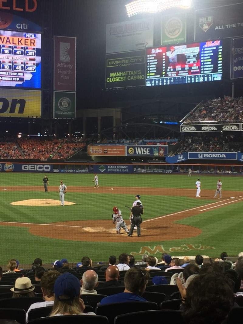 Seating view for Citi Field Section 16 Row 16 Seat 10