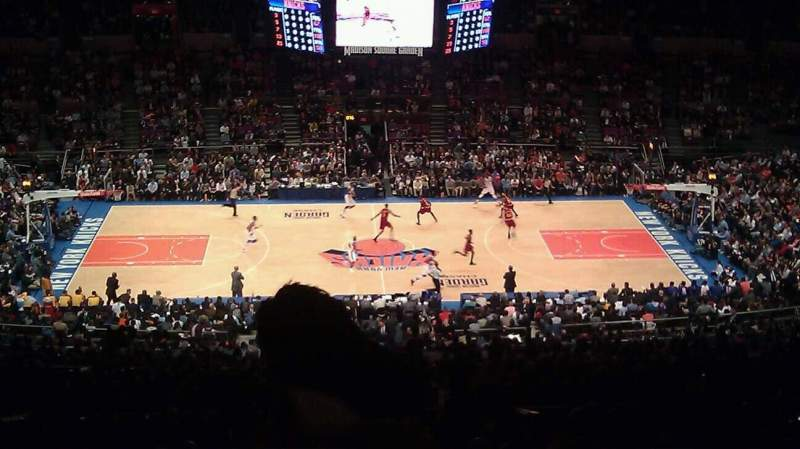 Seating view for Madison Square Garden Section 211 Row F Seat 23