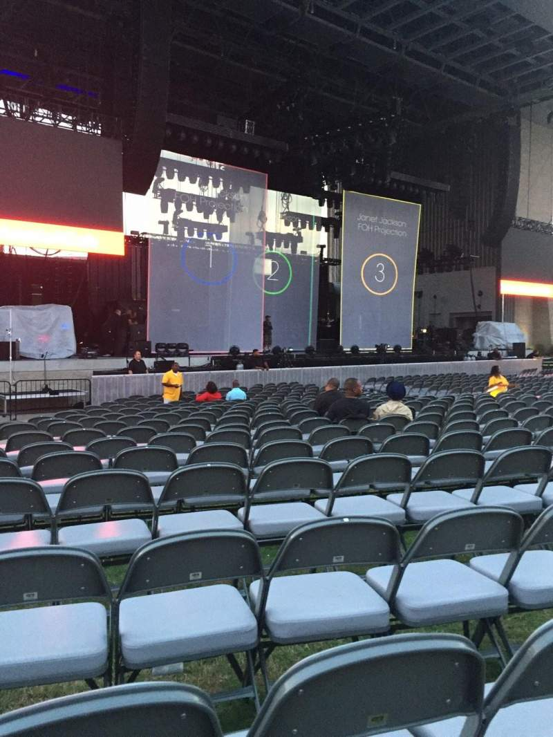 Seating view for Ascend Amphitheater Section 101 Row L Seat 23
