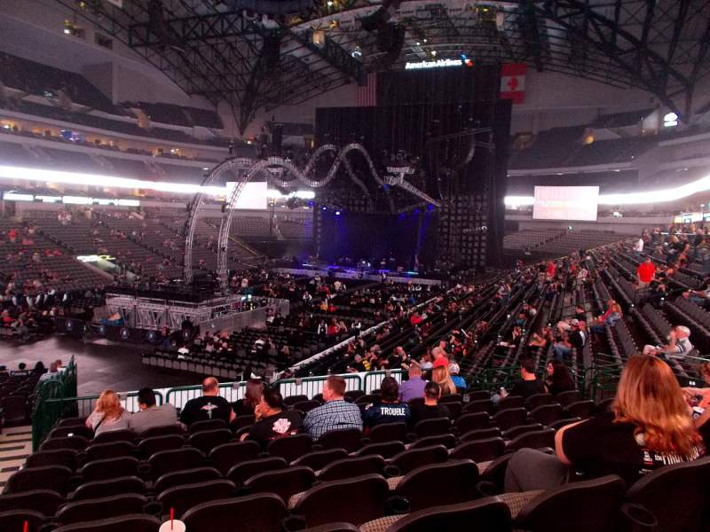Seating view for American Airlines Center Section 110 Row X Seat 20