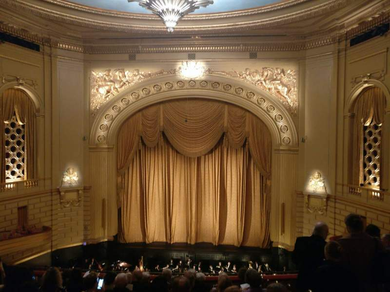 Seating view for War Memorial Opera House Section Dress Circle Premium Front Row B Seat 108