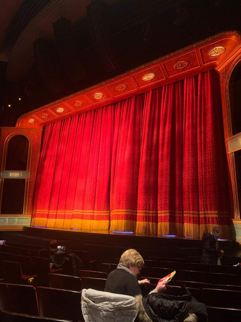 Seating view for Marquis Theatre Section Orchestra R Row J Seat 10
