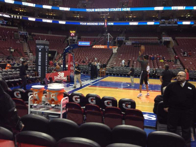 Seating view for Wells Fargo Center Section 124 Row 2 Seat 8