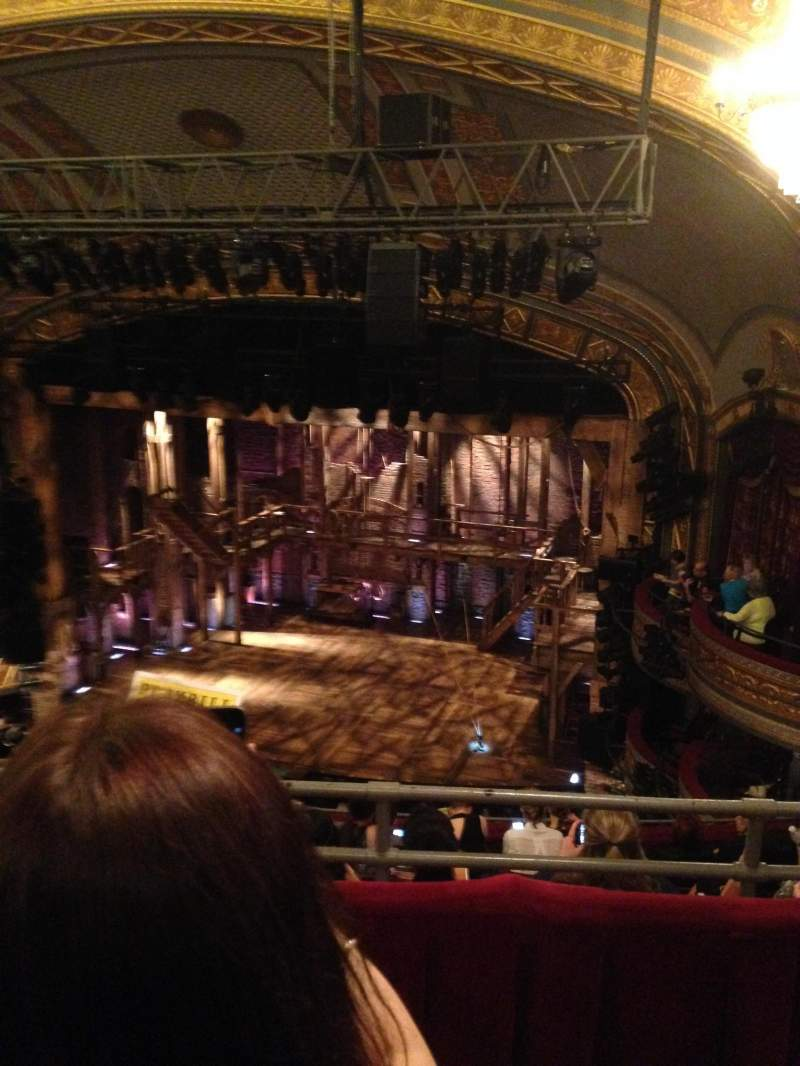Seating view for Richard Rodgers Theatre Section R mezz Row B Seat 20