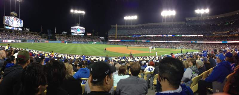 Seating view for Dodger Stadium Section 33FD Row P Seat 2