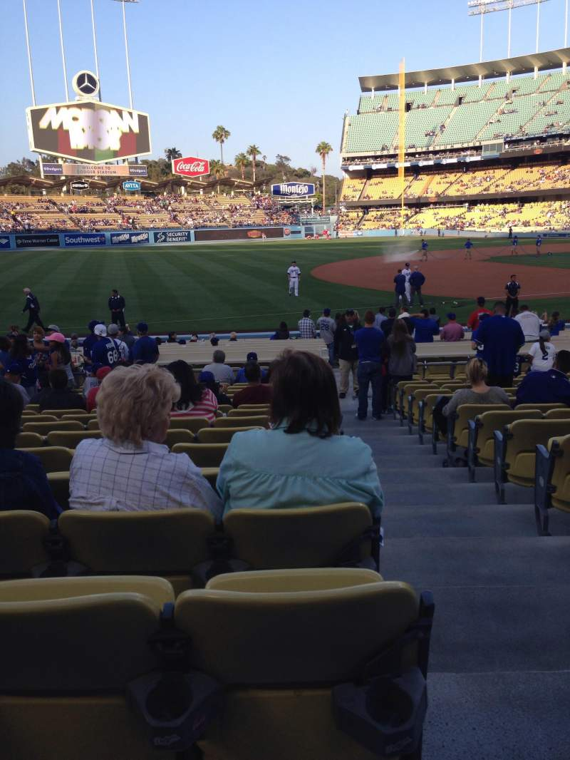 Seating view for Dodger Stadium Section 33FD Row P Seat 1