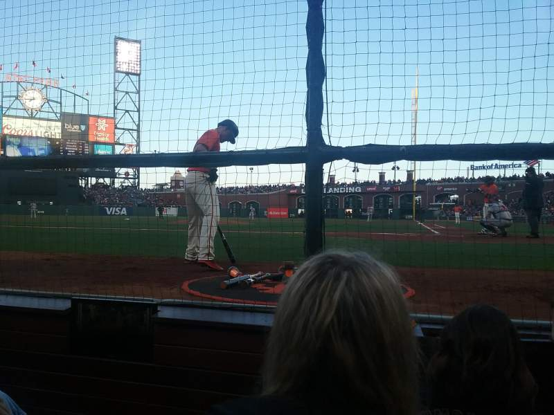 Seating view for AT&T Park Section DC 119 Row CCC Seat 9