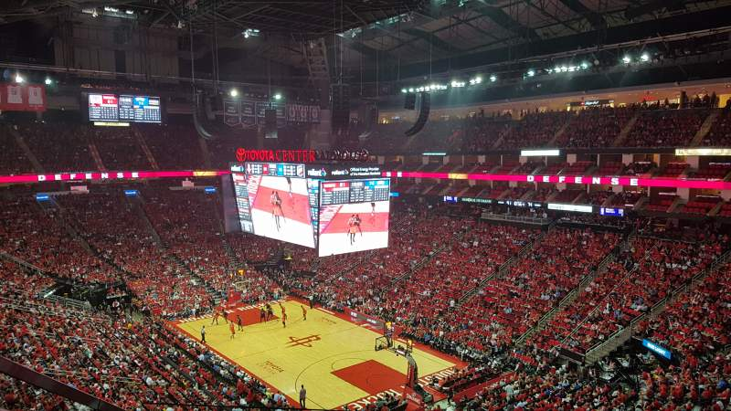 Seating view for Toyota Center Section 404 Row 6 Seat 14