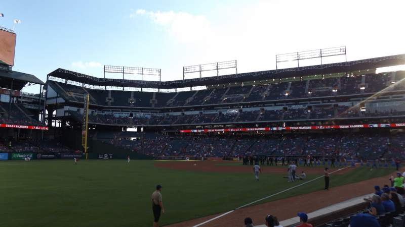 Seating view for Globe Life Park in Arlington Section 12 Row 8 Seat 7