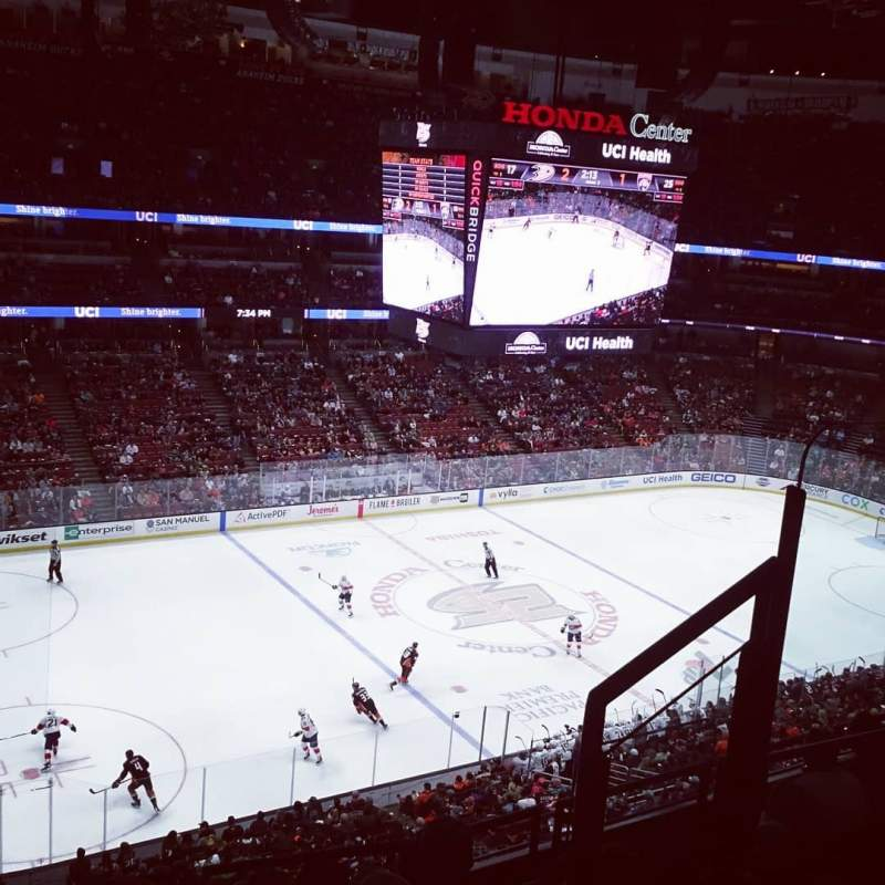 Seating view for Honda Center Section 415 Row F Seat 4