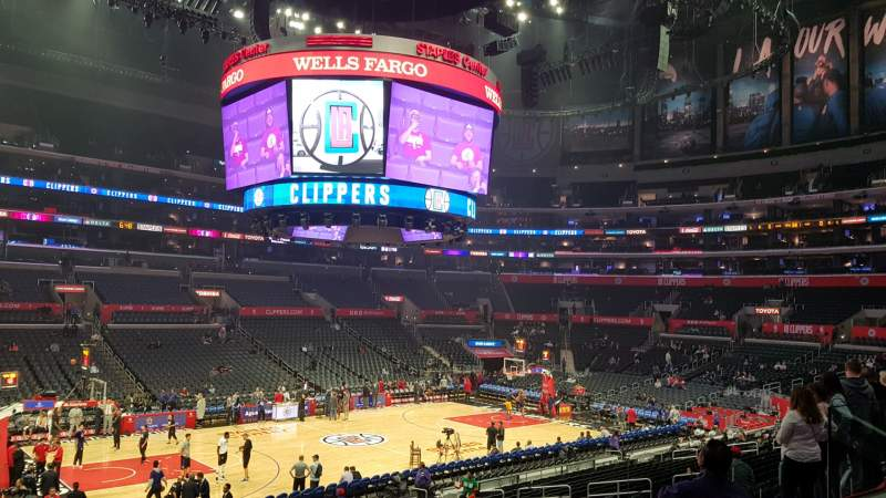 Seating view for Staples Center Section PR16 Row 2 Seat 6