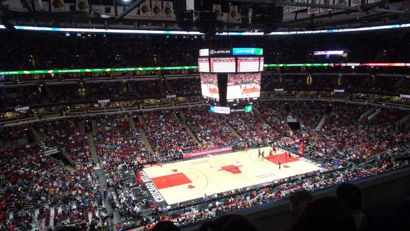 Seating view for United Center Section 320 Row C Seat 4