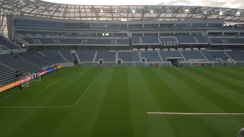 Seating view for Banc of California Stadium Section 215 Row C Seat 1
